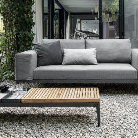 Gloster Grid lounge 2-seater met bijzettafel