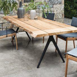 Gloster raw tafel met stoelen
