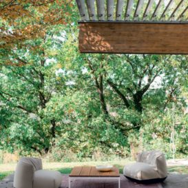 Kristalia Brioni lounge on a sunny day