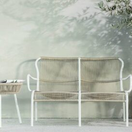 Vincent Sheppard Loop 2seater in beige & stone white