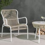 Vincent Sheppard Loop lounge chair beige and stone white