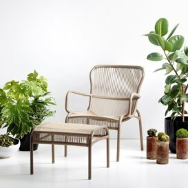 Vincent Sheppard Loop lounge chair taupe