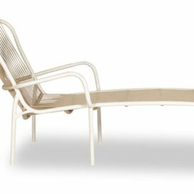 Vincent Sheppard Loop sunlounger in beige & stone white