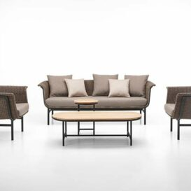 Vincent Sheppard Wicked lounge in taupe & charcoal