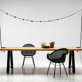 VincentSheppard Mateo tafel met lichtversiering