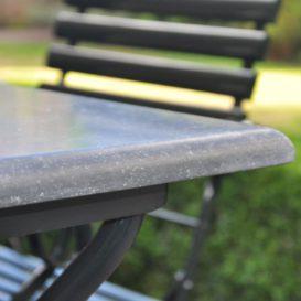 Anton damen blauwsteen tafel detail