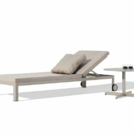 Bivaq Nak single sunlounger with sidetable