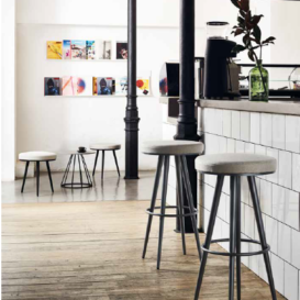 Bivaq Vint low and high barstools