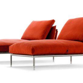 Coro Nest chaise longue in orange