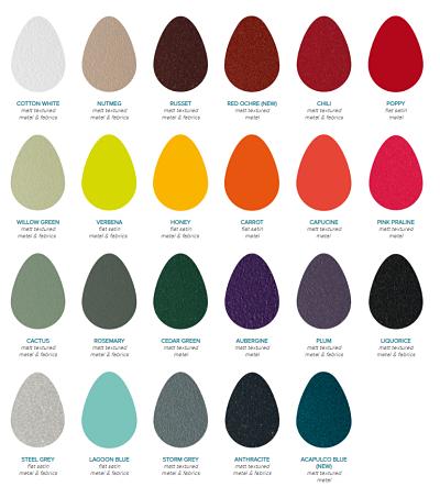 Fermob Colour chart