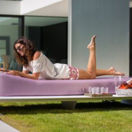 Jackie floating lounger on the ground