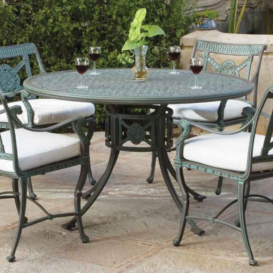 Oxley Luxor dining set side view