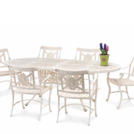 Oxley Luxor dining set white