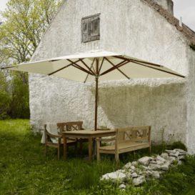 Skagerak Drachmann Bench 165cm and chairs