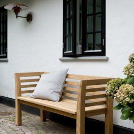 Skagerak Facet bench against wall