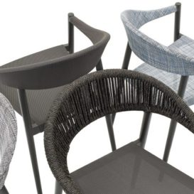 Clever dining chair with different textures