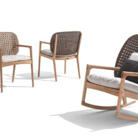 Gloster Kay rocking chair and product view