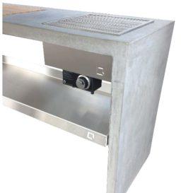 One Q beton tafel side