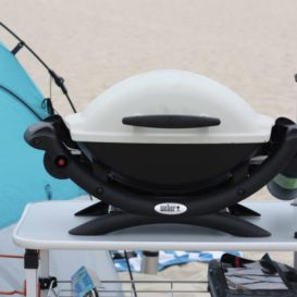 Weber Q1000 Gas Grill at the beach