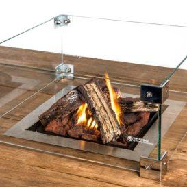 Happy cocooning glazen scherm optie