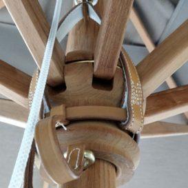 Weishaupl Teak Umbrella Detail