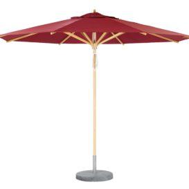 Weishaupl Teak Umbrella Red