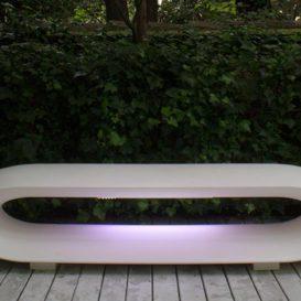 Design garden bench loop met led