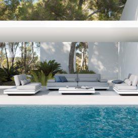 Manutti Elements lounge white grey setting-min