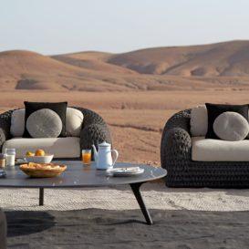 Manutti Kobo lounge gewoven stijl-min