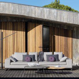 Manutti Zendo 3-zit vooraanzicht in architecturaal pareltje-min