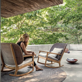 Gloster kay rocking chair set #1