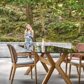Gloster kay & x-frame dining set #2