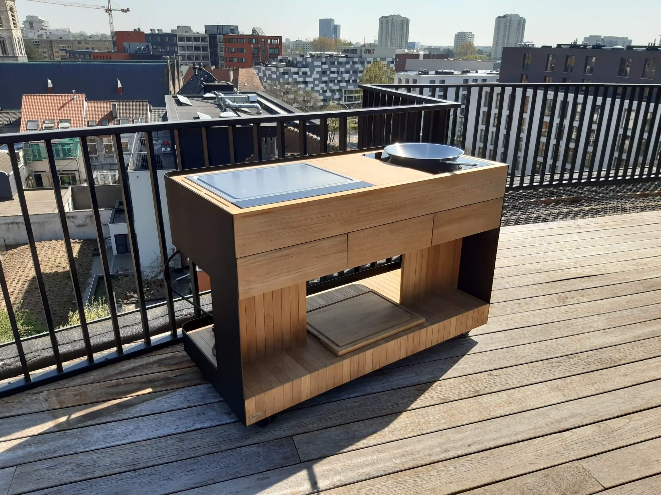 Indu+ Outdoor cooking Wok setup
