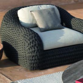 Manutti Kobo lounge black weave solobolo