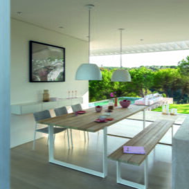 Manutti Prato dining table & bench