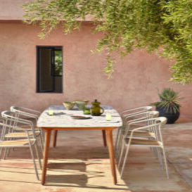 Manutti Torsa grand dining table 264