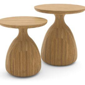Manutti_Tsuki_outdoor side table Ø35-Ø40_brushed teak