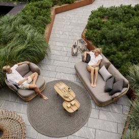 Cane line basket lounge topview
