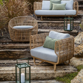 Cane line nest lounge & round chair & 2seater
