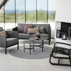 Cane-line Curve black loungechair by caneline