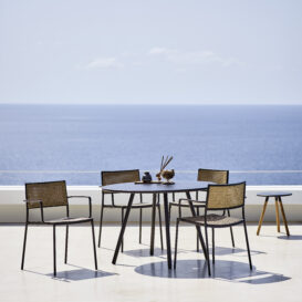 Cane-line Less_chair_lavagrey-french-weave_area_table_f7